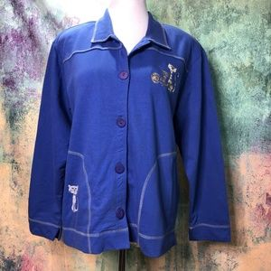 💥Mureli Vintage Cotton Jacket w/ cute Cats Design